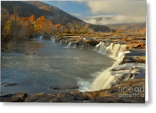 Landsacape Greeting Cards - Sandstone Falls Greeting Card by Adam Jewell