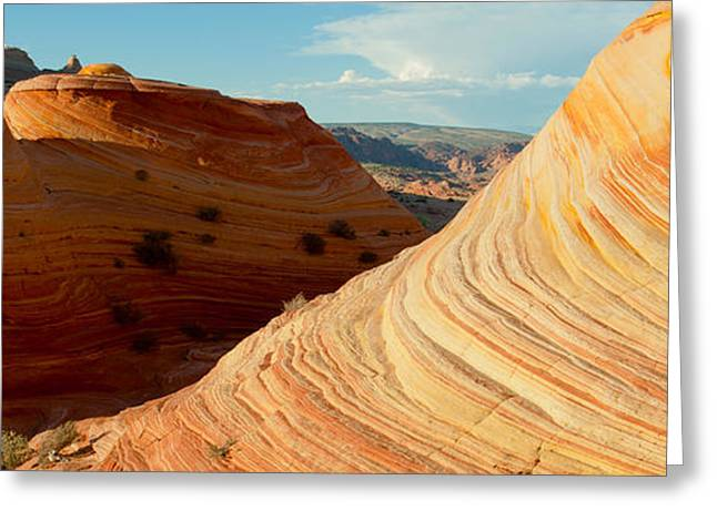 Geology Photographs Greeting Cards - Sandstone Rock Formations, The Wave Greeting Card by Panoramic Images