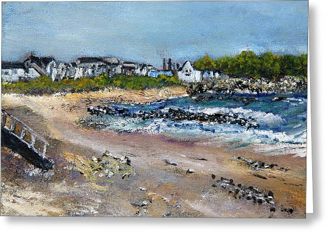 Cape Cod Mass Paintings Greeting Cards - Sandwich Town Beach Greeting Card by Michael Helfen