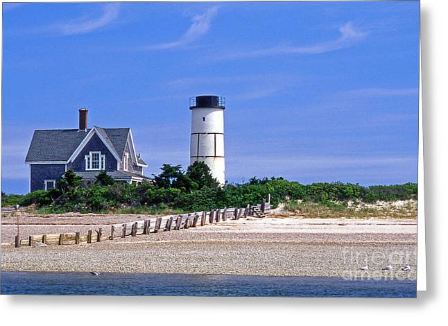 Ocean Art Photography Greeting Cards - Sandy Neck Lighthouse Greeting Card by Skip Willits