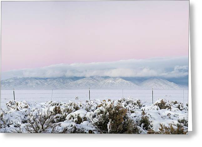 Sangre De Cristo Range With Clouds Greeting Card by Panoramic Images