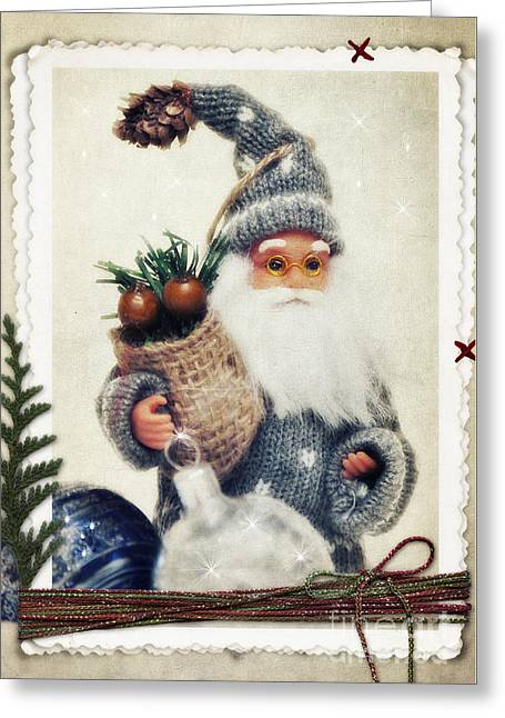 Santa Claus Greeting Card by Angela Doelling AD DESIGN Photo and PhotoArt