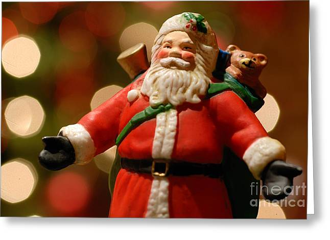 Toy Greeting Cards - Santa Claus Figure Greeting Card by Amy Cicconi