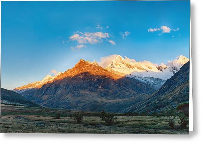 Andean Greeting Cards - Santa Cruz trek mountain in peru Greeting Card by Ulrich Schade