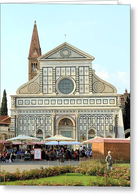 Bravery Greeting Cards - Santa Maria Novella Greeting Card by Valentino Visentini