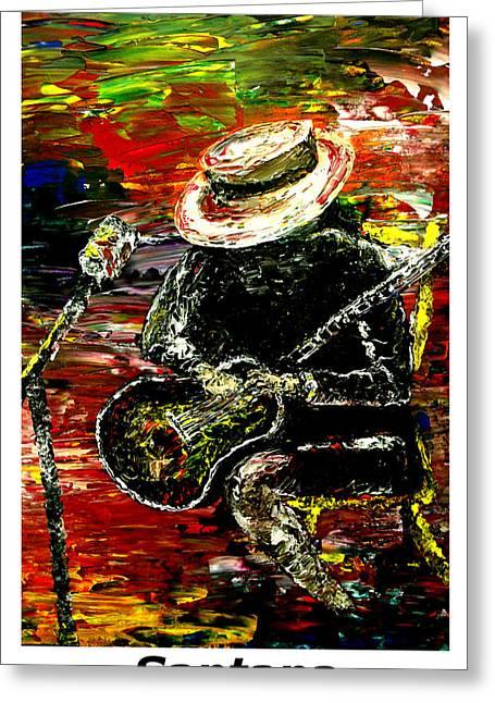 Mark Moore Paintings Greeting Cards - Santana  Greeting Card by Mark Moore