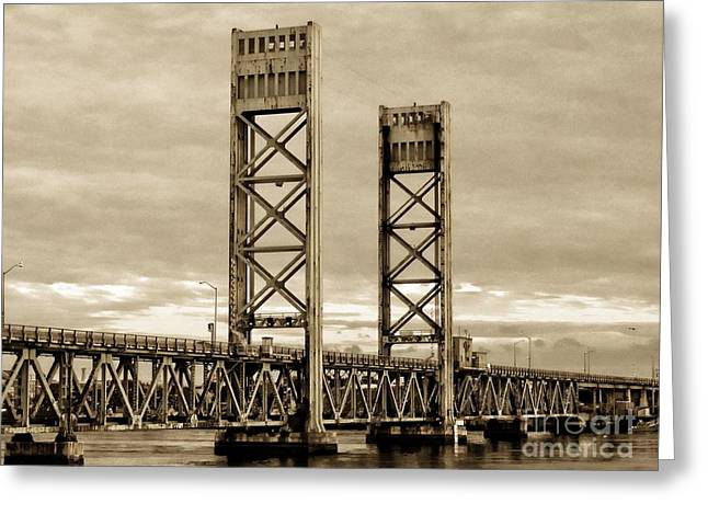Famous Bridge Greeting Cards - Sarah Long Bridge Greeting Card by Marcia Lee Jones
