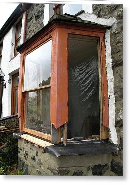 Sash Window Refurbishment Greeting Card by Cordelia Molloy