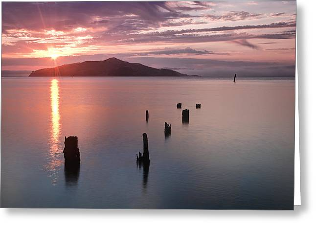 California Ocean Photography Greeting Cards - Sausalito Old Pier San Francisco Greeting Card by Chris Frost