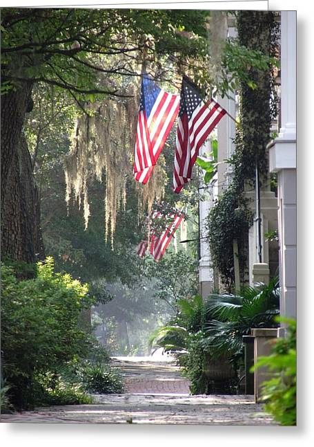 Savannah Sunday Morning Greeting Card by Matt Richardson