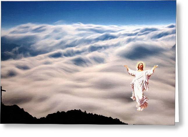 Religious Art Paintings Greeting Cards - Savior Greeting Card by Victor Gladkiy