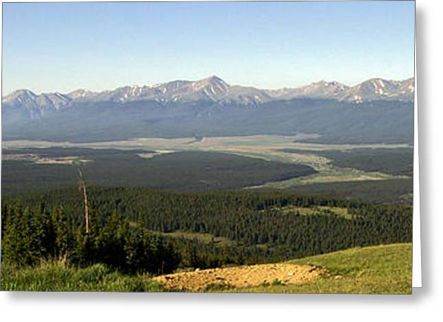 Mt. Massive Greeting Cards - Sawatch Panoramic Greeting Card by Jeremy Rhoades