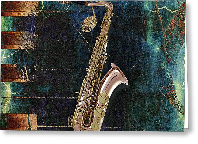 Sax Greeting Cards - Saxophone Collection Greeting Card by Marvin Blaine
