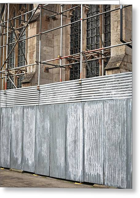 Repaired Greeting Cards - Scaffolding Greeting Card by Tom Gowanlock