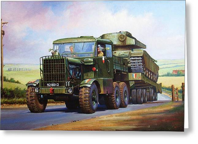 Lorries Greeting Cards - Scammell Explorer. Greeting Card by Mike  Jeffries