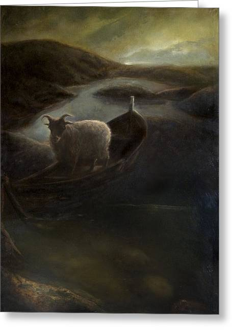 Scapegoat Greeting Cards - Scapegoat Greeting Card by Jeremy Francis  Bell