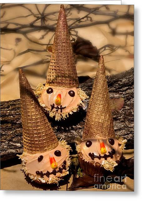 Scarecrow Cupcakes  Greeting Card by Iris Richardson