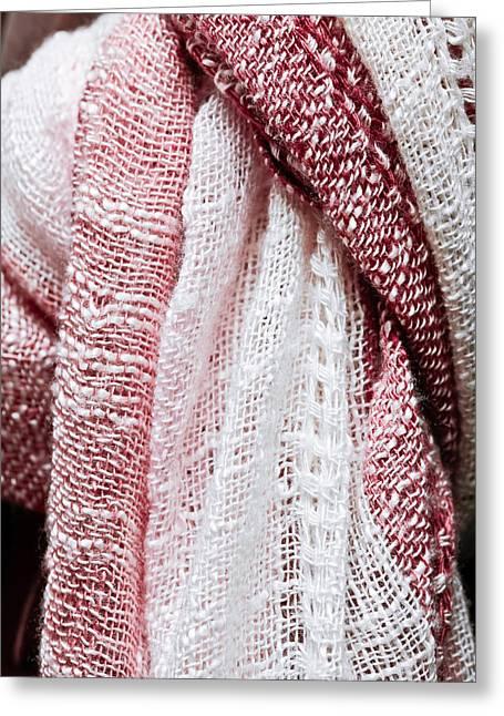 Hijab Fashion Greeting Cards - Scarf pattern Greeting Card by Tom Gowanlock