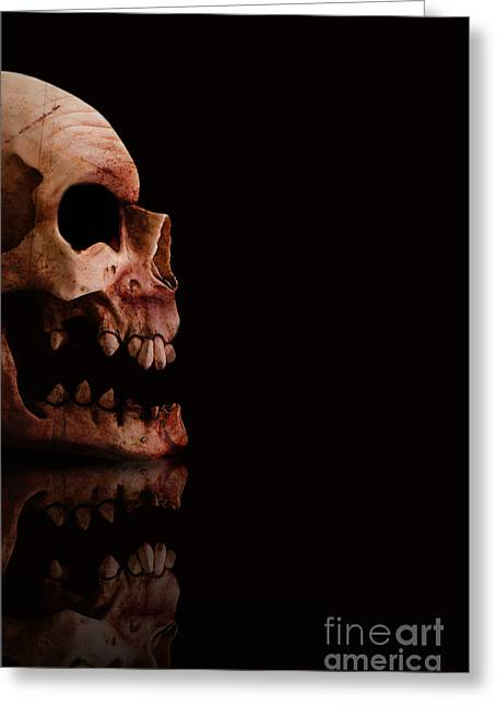 Disbelief Greeting Cards - Scary Skull Greeting Card by Ryan Jorgensen