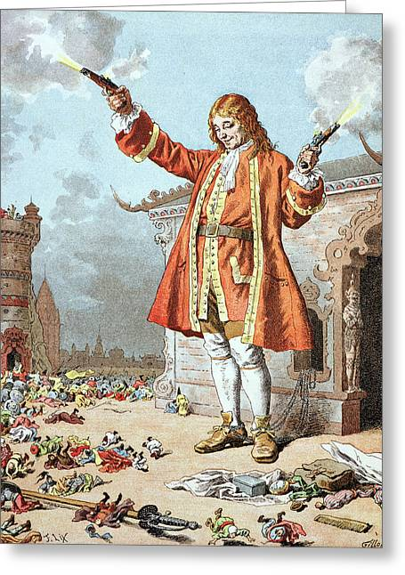 Jonathan Greeting Cards - Scene from Gullivers Travels Greeting Card by Frederic Lix