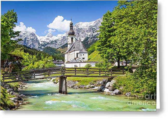 Oberbayern Greeting Cards - Scenic Bavaria Greeting Card by JR Photography