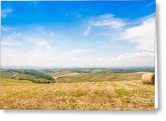 Scenic Tuscany Greeting Card by JR Photography