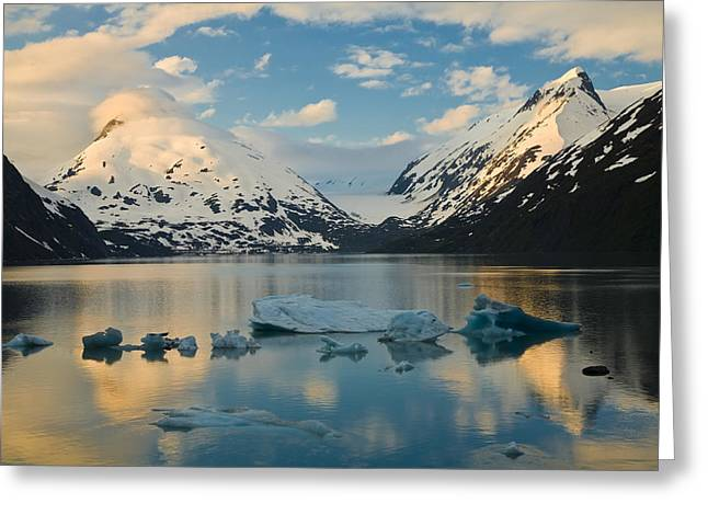 Portage Greeting Cards - Scenic View Of Dawn Over Portage Lake Greeting Card by Michael DeYoung