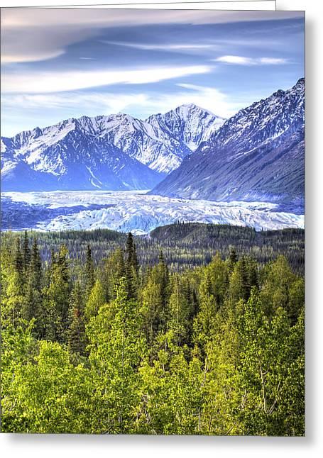 Matanuska Greeting Cards - Scenic View Of Matanuska Glacier As Greeting Card by Michael Criss