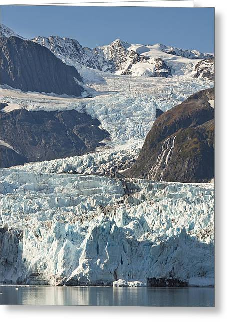Pristine Coastal Forests Greeting Cards - Scenic View Of Stairway Glacier R Greeting Card by Jeff Schultz