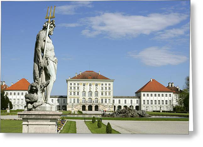 Muenchen Greeting Cards - Schloss Nymphenburg In Muenchen, Castle Greeting Card by Tips Images
