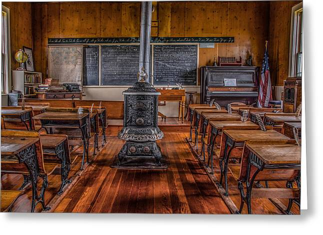 School House Greeting Card by Ray Congrove