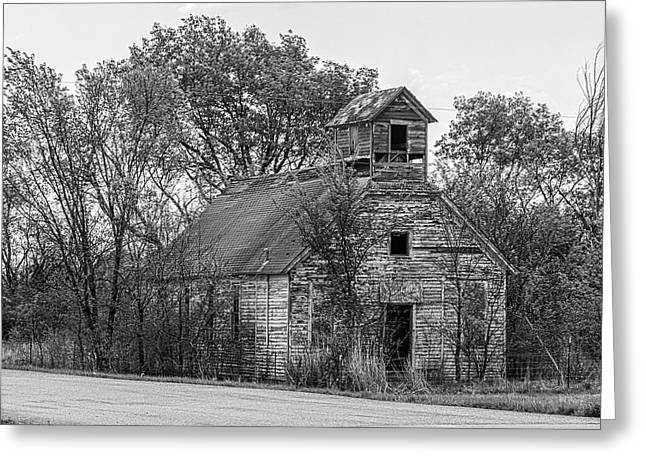 Abandoned School House. Greeting Cards - Schools Out Greeting Card by Kevin Anderson