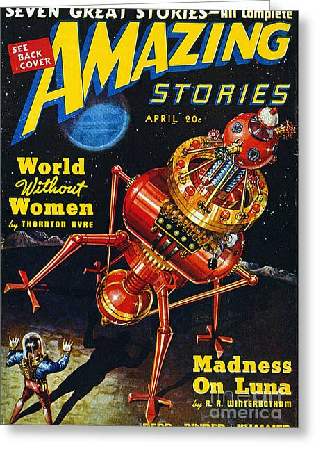 Science Fiction Cover 1939 Greeting Card by Granger
