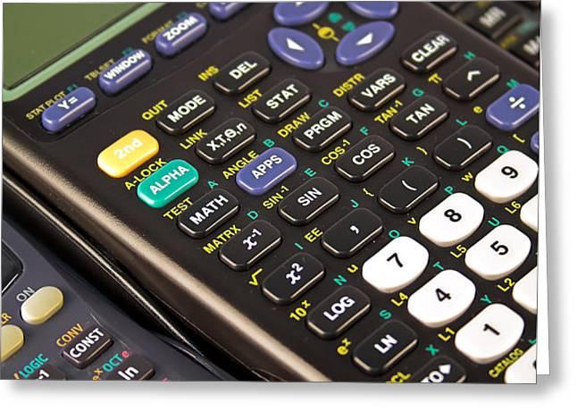 Scientific Calculators Greeting Card by Jose Elias - Sofia Pereira