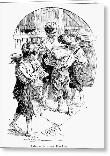 Scotland Child Labor, 1905 Greeting Card by Granger