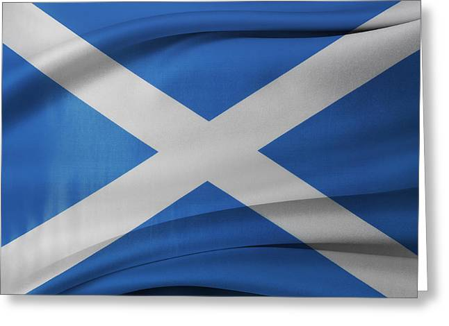 Scottish Flag Greeting Card by Les Cunliffe