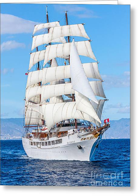 Recently Sold -  - Schooner Greeting Cards - Sea Cloud II  Greeting Card by Maslyaev Yury