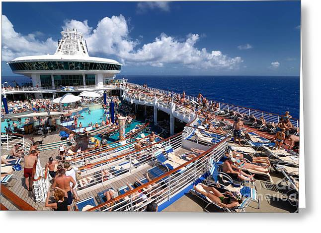 Sunbathing Greeting Cards - Sea Day Adventure of the Seas Greeting Card by Amy Cicconi