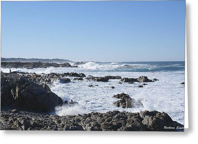 Cambria Digital Greeting Cards - Sea Foam Greeting Card by Barbara Snyder