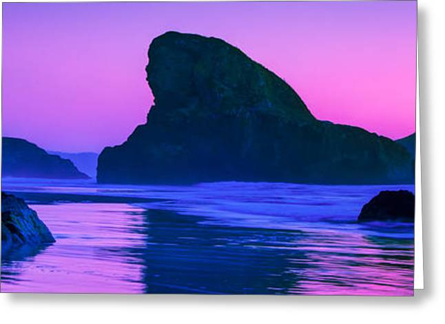 Beautiful Creek Greeting Cards - Sea Stacks on the Oregon Coast Greeting Card by Rich Leighton