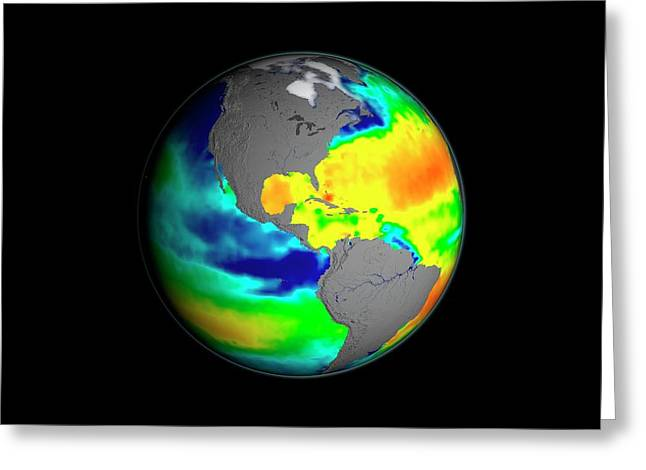 Sea Surface Salinity Greeting Card by Nasa/goddard Space Flight Center Scientific Visualization Studio