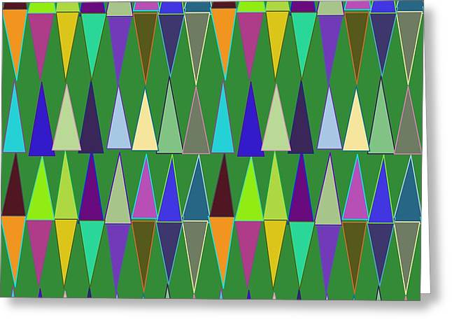 Geometric Style Greeting Cards - Seamless Colored Background Greeting Card by Christophe ROLLAND