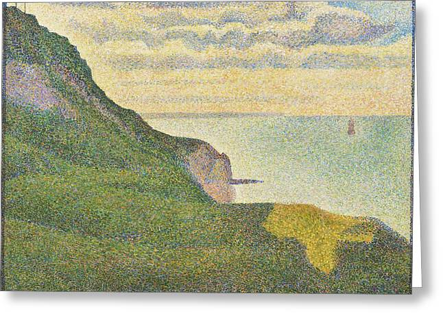 Seurat Greeting Cards - Seascape at Port-en-Bessin  Normandy Greeting Card by Georges Seurat