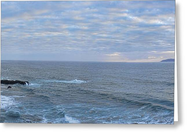 Seacape Greeting Cards - Seascape Greeting Card by Hugh Smith