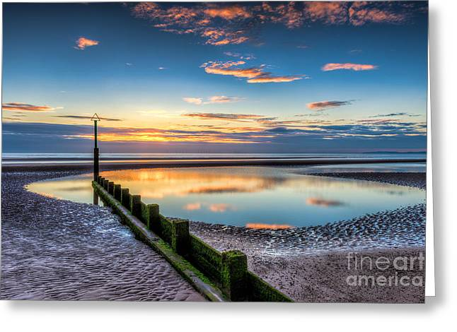 Empty Pool Greeting Cards - Seascape Wales Greeting Card by Adrian Evans