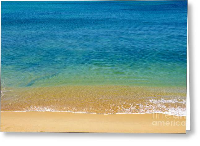 Background Greeting Cards - Seashore Greeting Card by Carlos Caetano