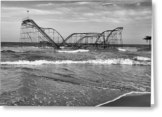 Jetstar Photographs Greeting Cards - Seaside Heights - Jet Star Roller Coaster Greeting Card by Niday Picture Library