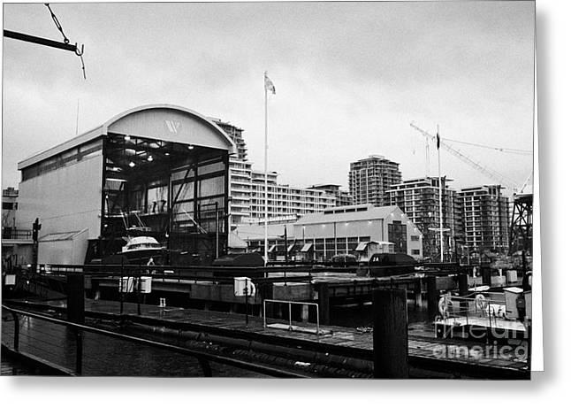 North Vancouver Photographs Greeting Cards - seaspan marine tugboat dock city of north Vancouver BC Canada Greeting Card by Joe Fox