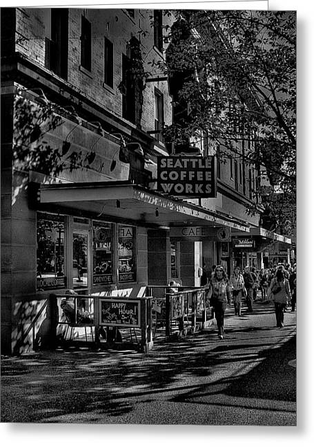 Seattle Coffee Works Greeting Card by David Patterson