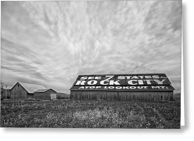 Recently Sold -  - Tennessee Barn Greeting Cards - See Rock City - Farm in Tennessee Greeting Card by Mountain Dreams